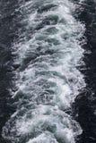 Mening over de zuiging van een schipschroef stock foto