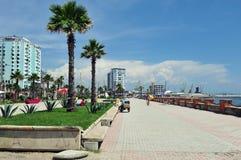 Mening over Durres-haven, Albanië Royalty-vrije Stock Foto's