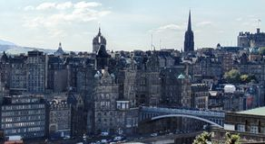 Mening over Edinburgh royalty-vrije stock afbeeldingen
