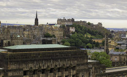 Mening over Edinburgh stock fotografie