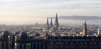 Mening over Edinburgh, Schotland Stock Foto's