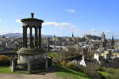Mening over Edinburgh, Schotland stock afbeelding