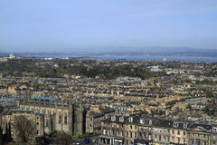 Mening over Edinburgh, Schotland stock foto's