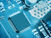 Mening over elektronische spaander Royalty-vrije Stock Afbeeldingen