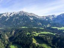 Mening over Ellmauer-Halt Oostenrijk royalty-vrije stock afbeeldingen