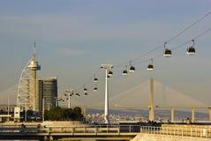 Mening over Expo, Lissabon Stock Afbeeldingen