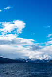 Mening over fjord royalty-vrije stock foto