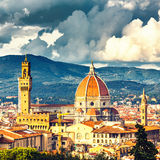 Mening over Florence royalty-vrije stock afbeelding