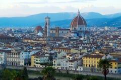 Mening over Florence, Italië Stock Afbeeldingen