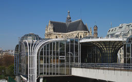 Mening over Forum des Halles, Parijs Stock Afbeeldingen
