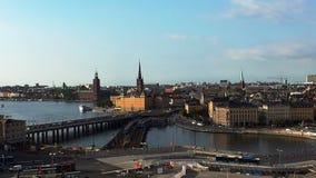 Mening over Gamla Stan in Stockholm Oude Stad zweden stock video