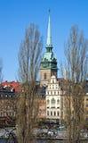 Mening over Gamla Stan in Stockholm, Zweden Stock Foto's