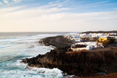 Mening over Gr Golfo, Lanzarote Royalty-vrije Stock Foto's