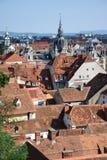 Mening over Graz, Oostenrijk Stock Foto's