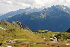 Mening over Grossglockner-weg in Oostenrijk Royalty-vrije Stock Fotografie