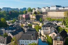 Mening over Grund, Luxemburg Stock Afbeeldingen
