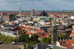 Mening over het centrum van Hanover royalty-vrije stock afbeelding