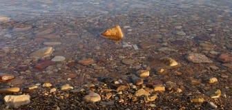 Mening over het dode overzees -- van de kustlijn van Jordanië Stock Fotografie