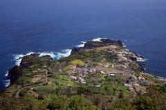 Mening over het eiland van de Azoren van Sao Jorge Royalty-vrije Stock Afbeelding