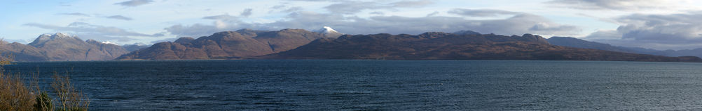 Mening over het Geluid van Sleat, Eiland van Skye, Scotla Royalty-vrije Stock Afbeeldingen