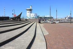 Mening over Het Havengebouw in Harlingen Stock Foto