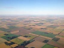 Mening over het land vanaf de bovenkant Stock Fotografie