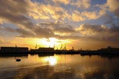 Mening over het Las Palmas van Puerto DE - de haven van Las Palmas, Gran Canaria, Spanje - 13 02 2017 Stock Foto's