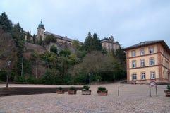 Mening over het nieuwe kasteel in baden-Baden Stock Foto's