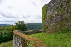 Mening over het Ridder` s Graf of Château D ` Herbeumont Stock Foto
