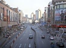 Mening over het Winkelen district in Shanghai Stock Afbeeldingen