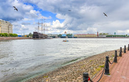 Mening over historisch centrum van Heilige Petersburg, Rusland Stock Afbeeldingen