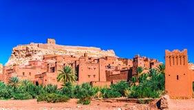Mening over historische stad van AIT ben Haddou in Marokko stock foto's