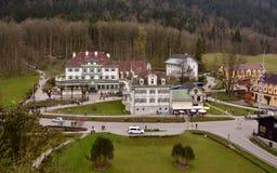 Mening over Hohenschwangau-dorp, Beieren, Duitsland Royalty-vrije Stock Afbeelding