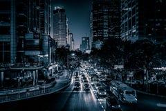 Mening over Huaihai-Road royalty-vrije stock afbeeldingen