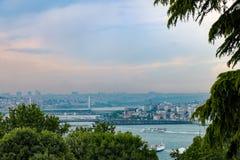 Mening over Istanboel van het Paleis Topkapı Stock Fotografie