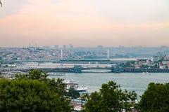 Mening over Istanboel van het Paleis Topkapı Royalty-vrije Stock Foto