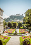 Mening over Kasteel in Salzburg, Oostenrijk royalty-vrije stock fotografie
