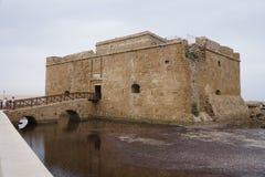 Mening over Kato Paphos Castle Stock Fotografie
