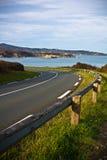 Mening over kustweg op de richel die van Atlantische kust tot de stranden leiden Stock Foto