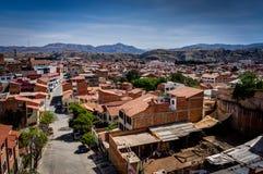 Mening over La Paz Bolivia van Straat Royalty-vrije Stock Afbeelding