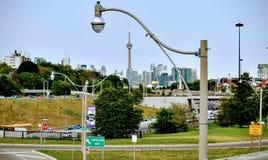 Mening over lange afstand van CN toren Toronto Canada Stock Afbeelding