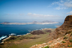 Mening over Lanzarote Royalty-vrije Stock Foto