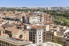 Mening over Lleida stad, Catalonië, Spanje Royalty-vrije Stock Afbeeldingen