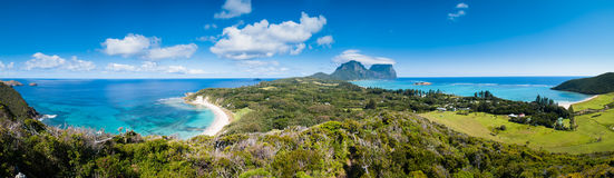Mening over Lord Howe Island Royalty-vrije Stock Afbeelding