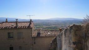 Mening over Luberon-Vallei van Gordes Luberon Frankrijk Royalty-vrije Stock Foto
