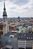 Mening over München royalty-vrije stock foto