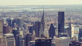 Mening over Manhattan van Empire State Building stock foto