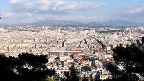 Mening over Marseille, Frankrijk stock footage