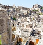 Mening over Matera, een Unesco-plaats in basilicata Italië Royalty-vrije Stock Afbeeldingen