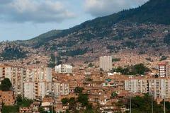 Mening over Medellin Stock Afbeeldingen